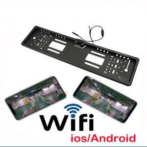 Zonetech WIFI-s Rendszámtáblába épített tolatókamera