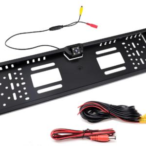 Tolatókamera szett: 4.3 monitor + rendszámtáblába épített kamera