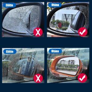 Visszapillantó tükörre ragasztható esővédő matrica