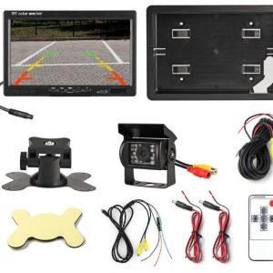 7″ Monitor + 24V-os Tolatókamera szett