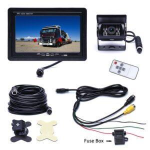 7″ Monitor + 24V-os teherautó Tolatókamera szett