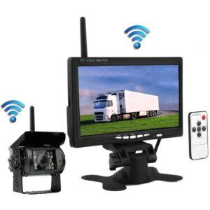 7″ 24V Monitor + vezeték nélküli teherautó tolatókamera szett